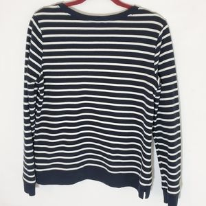 Lands' End Tops - Lands End top blue white striped size small